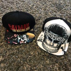 2 New The Joker SnapBack Hat Bundle